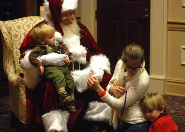 Our visit with Santa