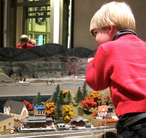 Model Train at Daniel Stowe Botanical Garden