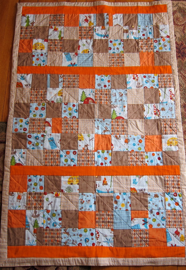 Finished patchwork quilt