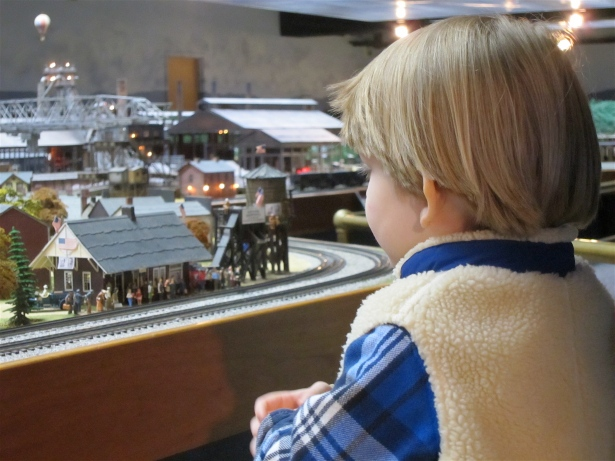 Miniature Model Train Close-up