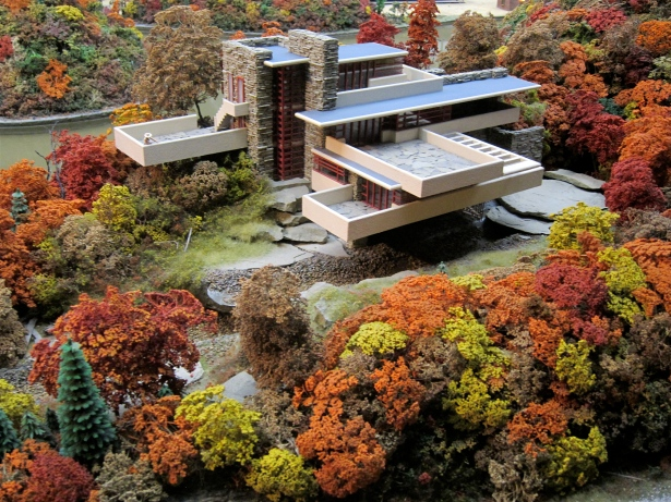 Frank Lloyd Wright's Fallingwater in miniature!