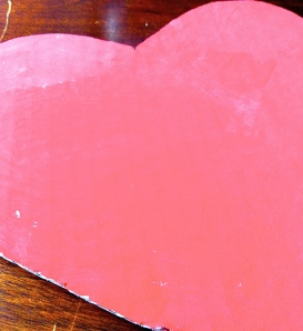 Painted Cardboard Heart