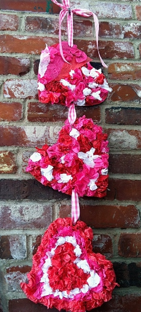 Tissue Paper Heart Decor