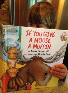 Baby Q Reading Laura Numeroff's If You Give A Moose A Muffin