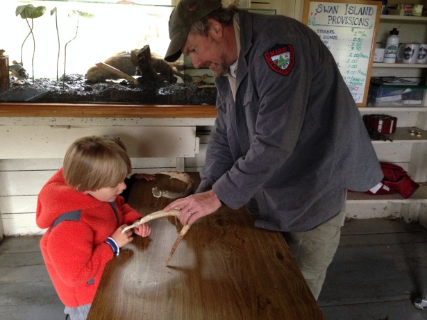 Boat House Nature Lesson - Swan Island Maine